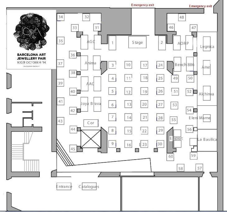 JOYA - map exhibitors