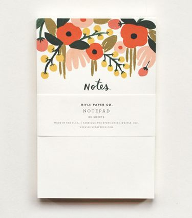 RIFLE PAPER CO. Hanging Garden Notepad