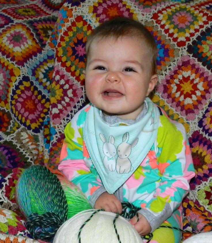 Ball of cuteness...Littletreez bandana style bib