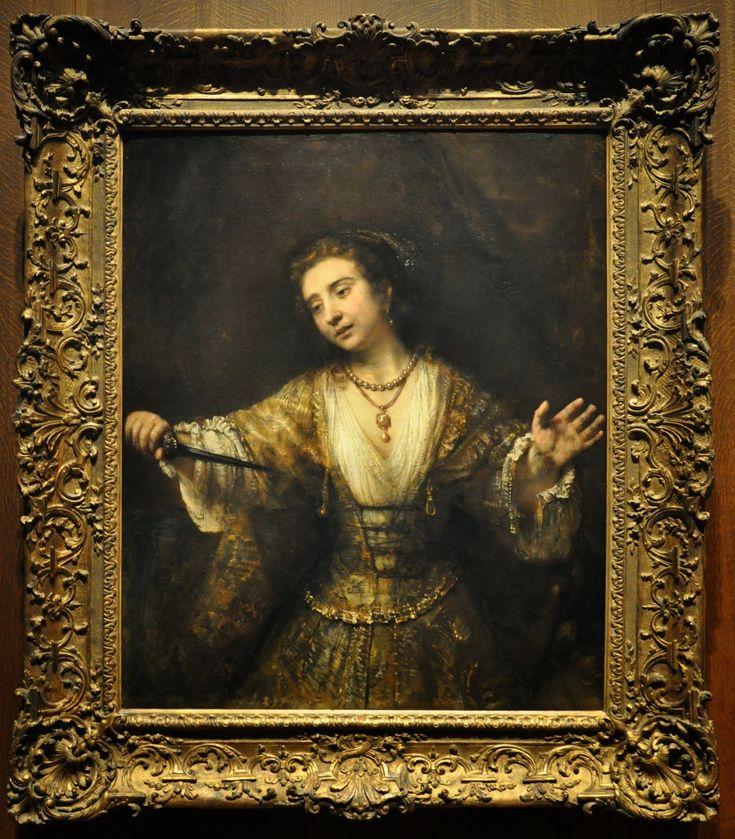Rembrandt van Rijn.     Dutch, 1606 - 1669. Lucretia. 1664          Andrew W. Mellon Collection.