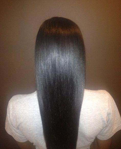 Silk Press on natural hair #natural hair