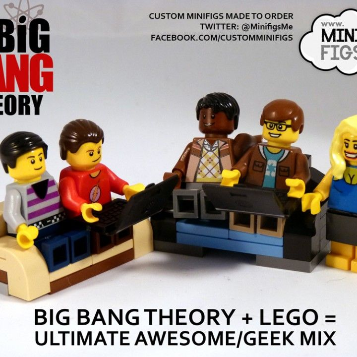 Big Bang Theory lego figures. Wish these were really manufactured!!!