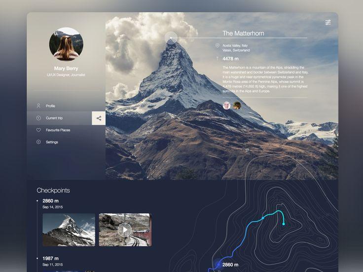 Mountain Guide Web service by Sonia Dunaieva