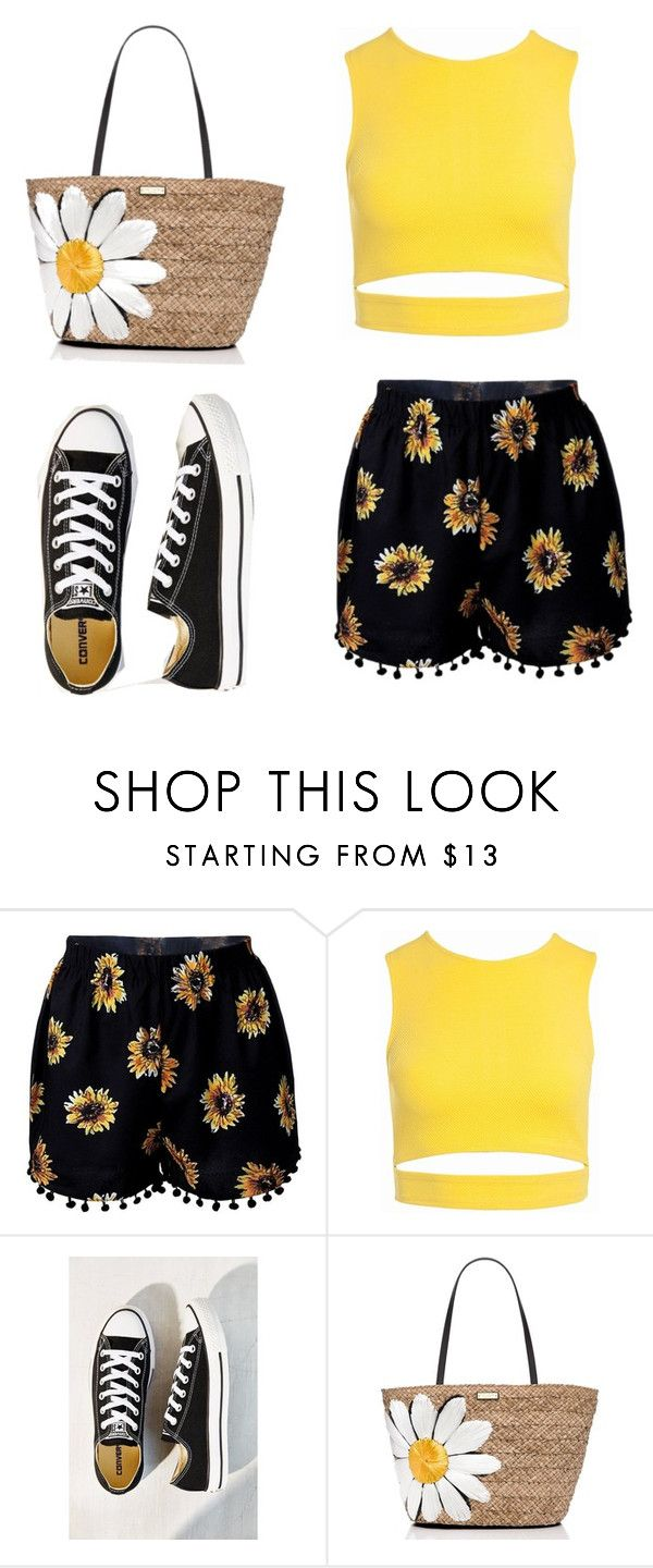 """""""Sunflowers"""" by kennedyk22-1 ❤ liked on Polyvore featuring Sans Souci, Converse and Kate Spade"""