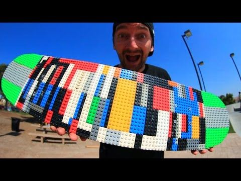 What It's Like To Skate A LEGO Skateboard [Video] - These guys review a skateboard created out of LEGO. Will it hold up or will it break? Take your guess and watch the video.