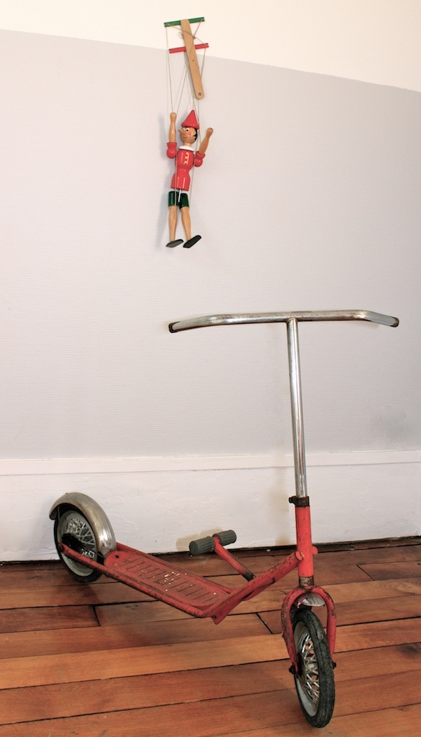trottinette p dale ann es 1950 jouets vintage pour enfants f e faustine scooters. Black Bedroom Furniture Sets. Home Design Ideas