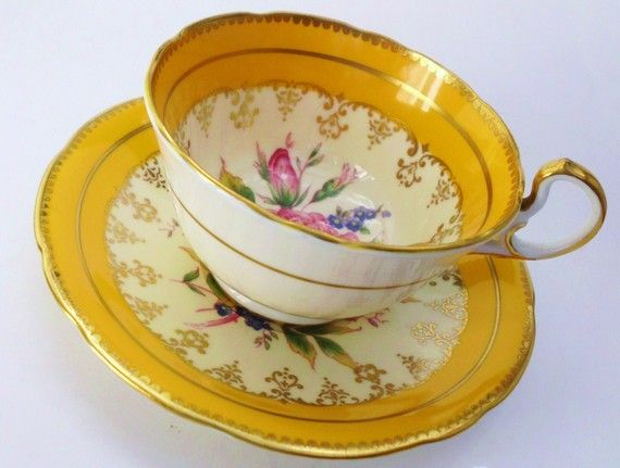 Vintage Aynsley China Teacup and Saucer