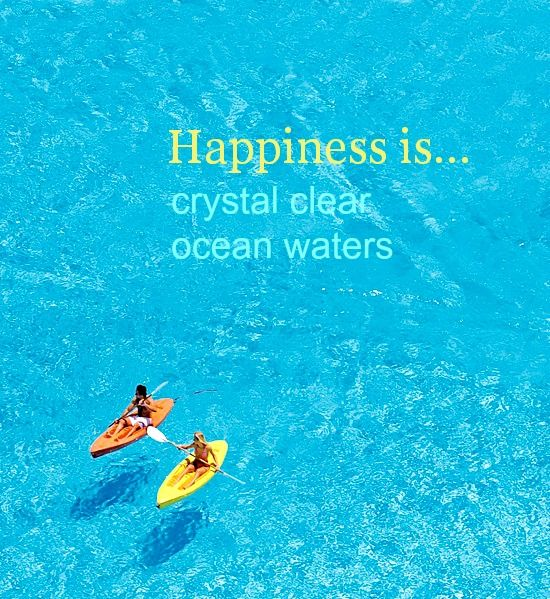 Happiness is.... crystal clear ocean waters. These are very unique waters! Learn more here:  http://beachblissliving.com/san-alfonso-del-mar-artificial-beach-pool/