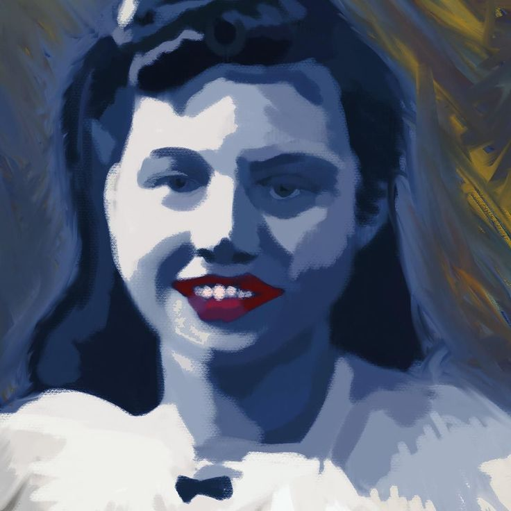 My mum when she was a young woman. Painted by me.