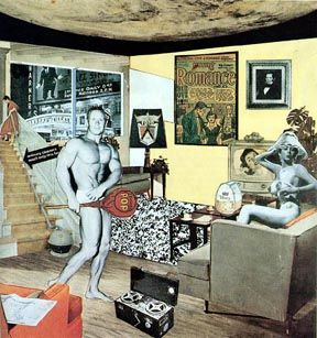 """Richard Hamilton's collage Just what is it that makes today's homes so different, so appealing? (1956) is one of the earliest works to be considered """"pop art""""."""