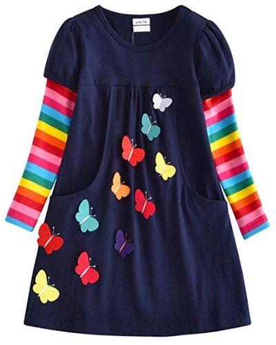 VIKITA Winter Toddler Girl Clothes Cotton Long Sleeve