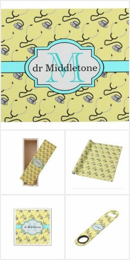 Stethoscope medical pattern party supplies