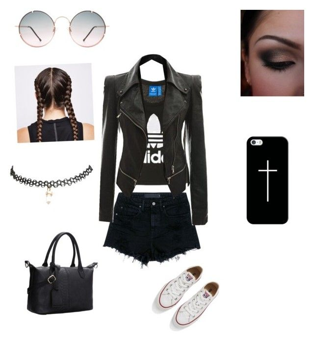 """""""Untitled #44"""" by nat2124 on Polyvore featuring Topshop, Alexander Wang, Spitfire, Casetify, Ultimate, Wet Seal and Converse"""