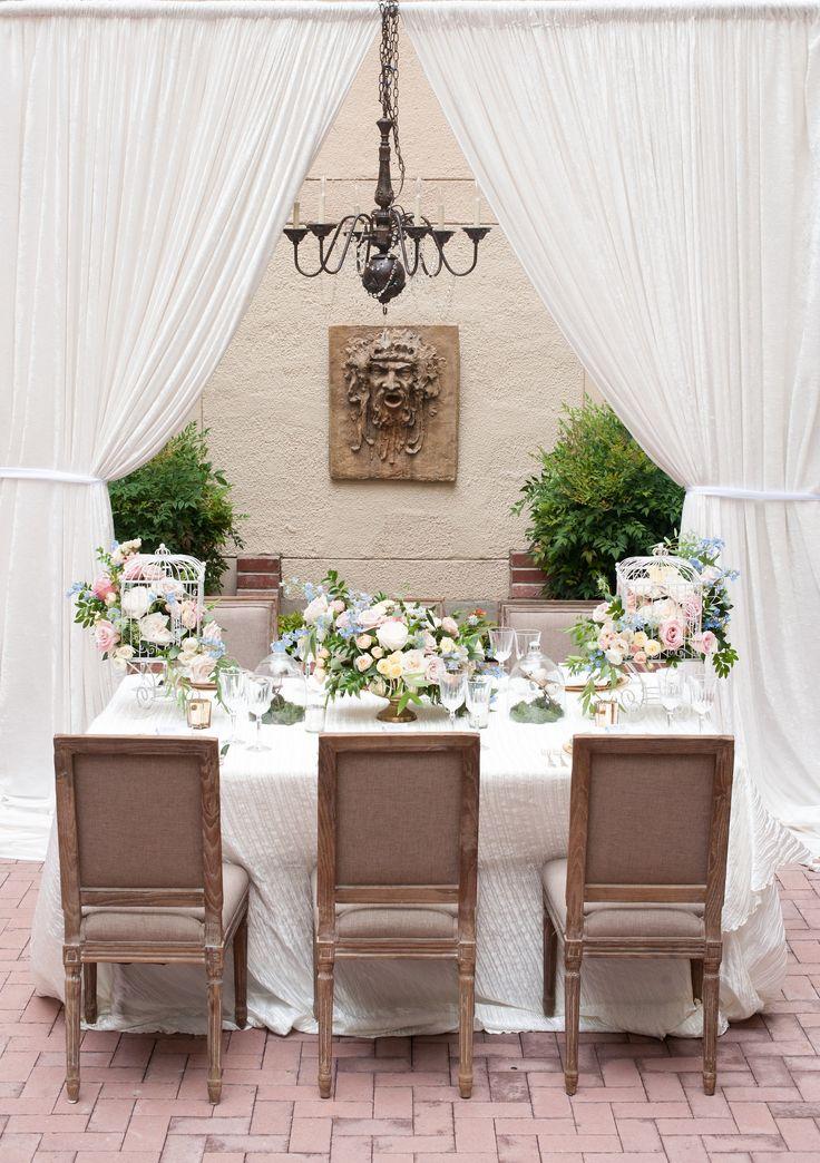 Courtyard Wedding Styled Shoot via Black Bride