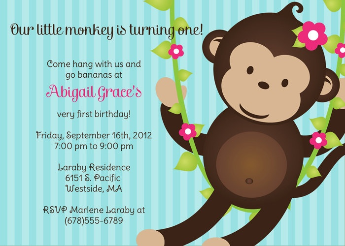 Best Birthday Party Invitations Images On Pinterest Credit - Birthday invitation for little girl