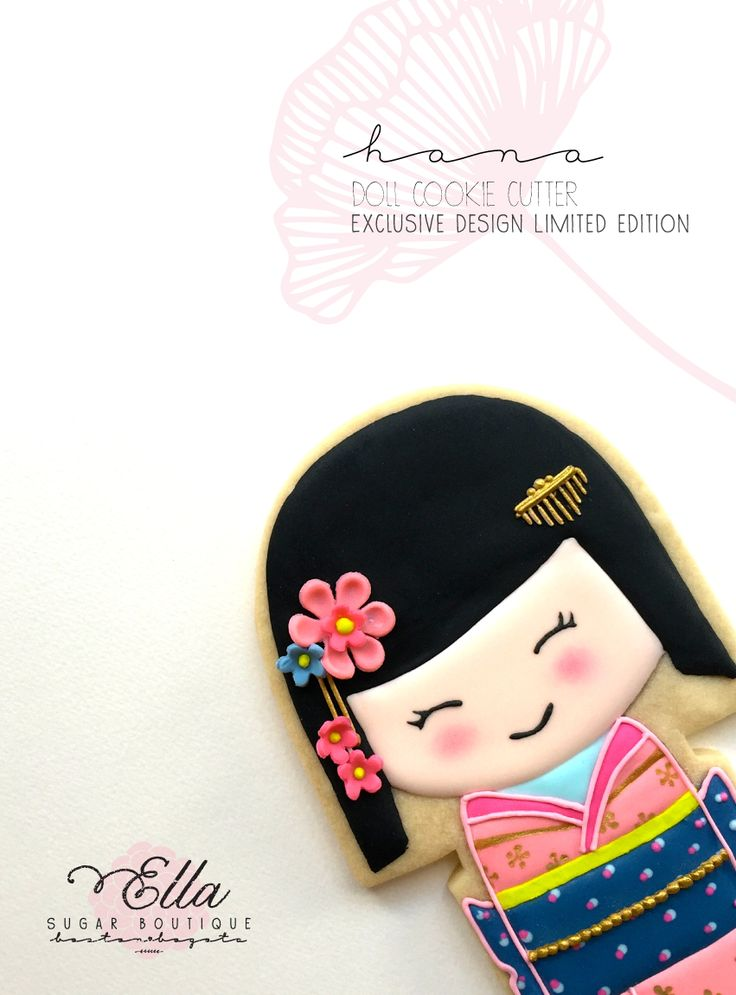 Kokeshi dool cookie and cutter  https://www.etsy.com/listing/236480969/limited-edition-cutter-hana-kokeshi-doll