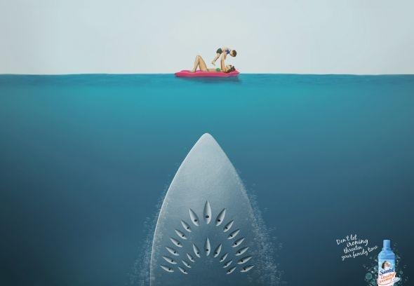Suavitel Goodbye Ironing: Shark. Advertising Agency: Y, New York, USA