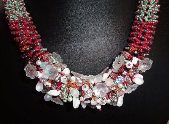collana GIROCOLLO fatta a mano modello a di Carlacollanebijoux, creato da mia sorella Teresa: è splendido