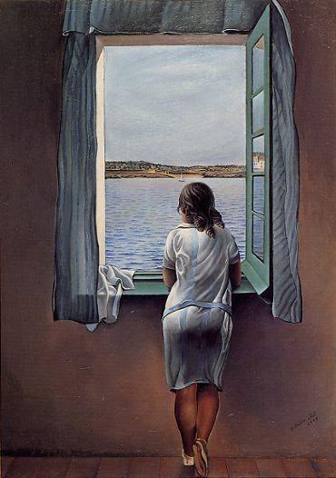 Jeune fille à la fenêtre, Salvador Dali.
