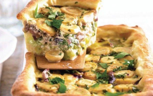 Κοτόπιτα με κρεμμύδια και μανιτάρια - iCookGreek