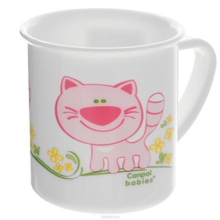 """Canpol Babies Чашка детская Котенок цвет розовый  — 184.8р. ---- Детская чашка """"Canpol Babies"""" предназначена для того, чтобы приучить малыша пить из посуды для взрослых. Чашка выполнена из безопасного полипропилена и оформлена изображением забавного котика. Чашка выглядит совсем как обычная, однако она меньше по объему. Если случайно малыш уронит чашку, то она не разобьется."""