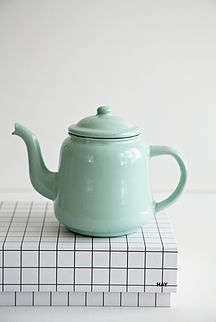 Mint grøn tepotte - 125kr. Køb den på www.loppedesign.dk