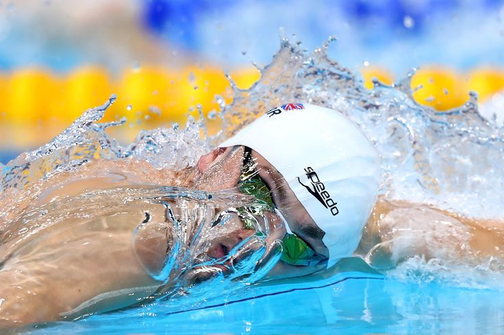 Britain's James Guy in action during the men's 200m freestyle heats on day nine of the European swimming championships at the London Aquatics Centre