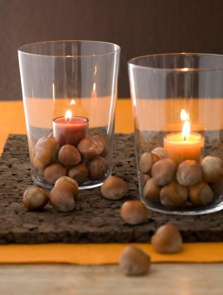 80 best thanksgiving decorating images on pinterest for Acorn decoration ideas