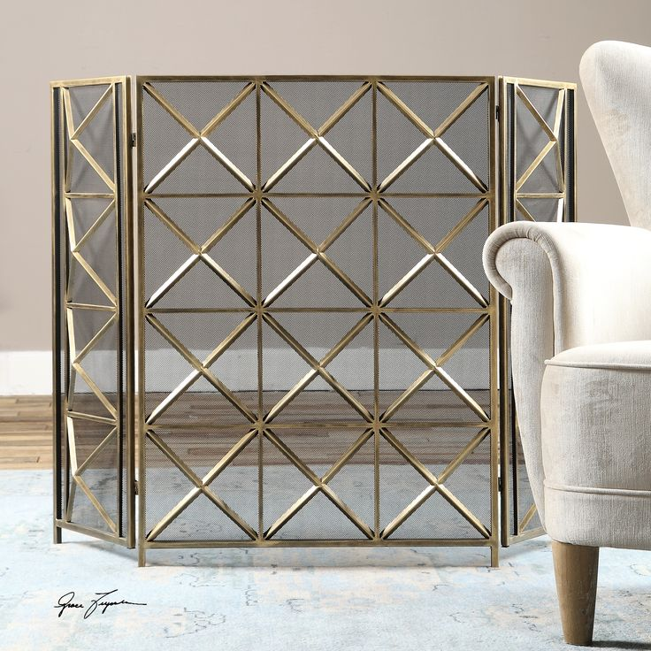 Hand Forged and Metal Finished Fireplace Screen
