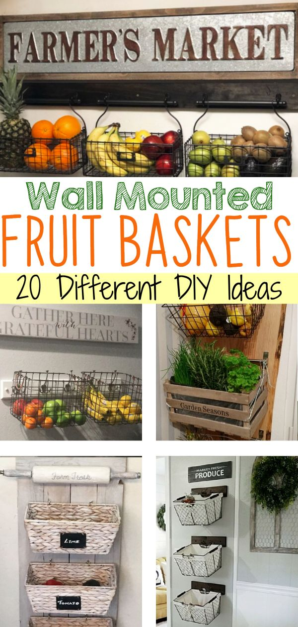 Diy Hanging Fruit Basket Ideas And Pictures Unique And Easy Wall Mounted Fruit Baskets Clever Diy Ideas Fruit And Vegetable Storage Hanging Fruit Baskets Diy Vegetable Storage