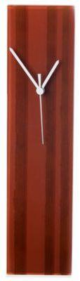 Veritas Handmade Vertical Stripe Glass Wall Clock in Brown