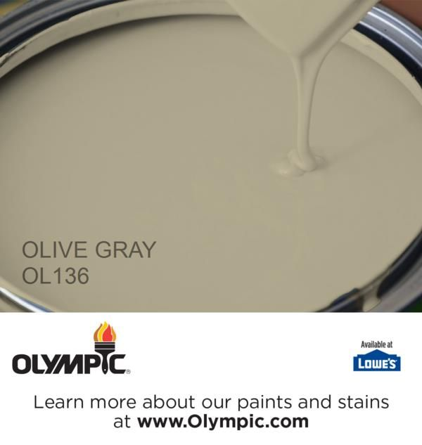 OLIVE GRAY OL136 is a part of the greens collection by Olympic® Paint.