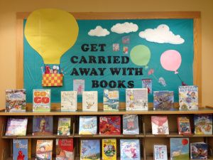 get carried away with books | ... cool balloon themed board. Can you see your favorite book character