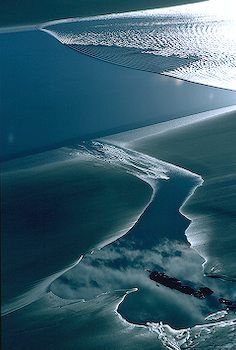 Bore tide rushing into Turnagain Arm, Cook Inlet, Alaska