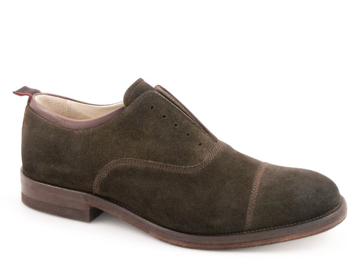 Smith's American men's shoes in olive suede leather - Italian Boutique €169