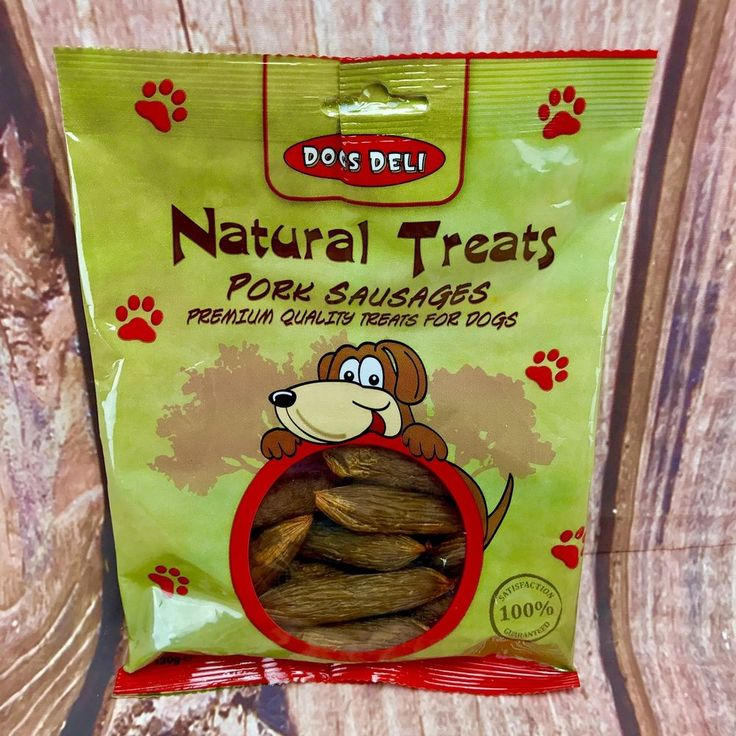 Dog Treats Natural Pork Sausages Premium Quality 120g high in protein low in fat