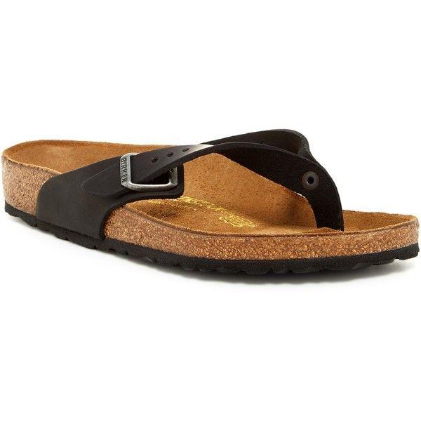 Birkenstock Adria Sandal ($60) ❤ liked on Polyvore featuring shoes, sandals, black, black strap shoes, birkenstock sandals, cork sandals, slipon shoes and black slip on sandals