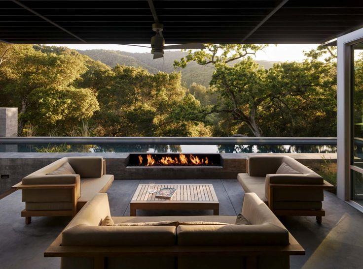 Modernized ranch home in the Santa Lucia mountains, California