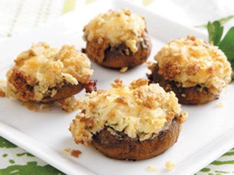Crispy Shrimp Lettuce Wraps Stuffed Mushroom Recipescheese Stuffed Mushroomsmushrooms Recipesphiladelphia Cream