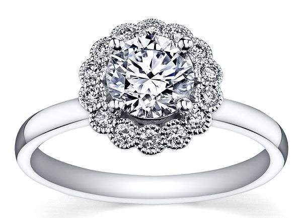 We love this stunning Vintage Diamond Ring! If you want some sparkle in your life, this is the perfect ring for you #DrakesLoveStory