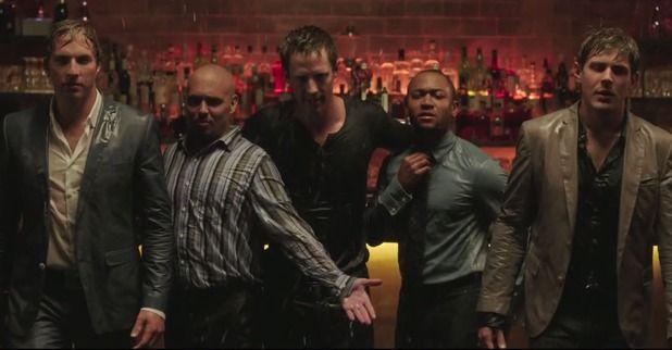 Ryan Hansen, Francis Capra, Jason Dohring, Percy Daggs III and Chris Lowell in 'Veronica Mars' movie