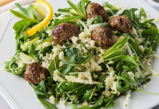 This lamb rissole and couscous salad is delicious and an easy to prepare lunch recipe that will give you an idea of the tasty meals offered throughout the challenge.