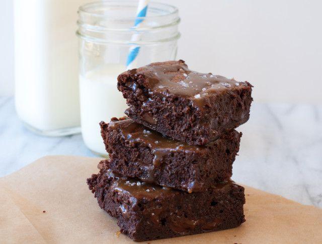 salted caramel brownies @Jacquelyn Grandy