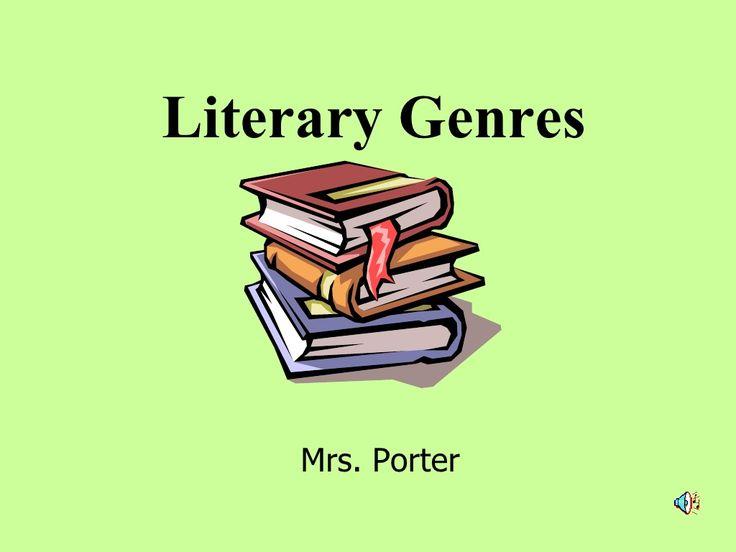 Literary Genres by krporter via slideshare