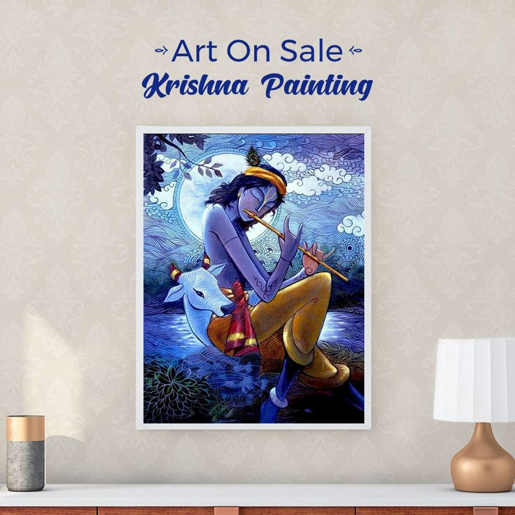 How lovely would this stunning krishna painting look