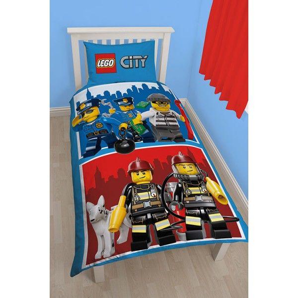 Lego City sengetøj politi og brandvæsen