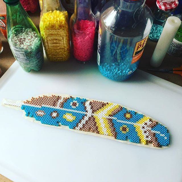 Feather perler beads by capriciousarts