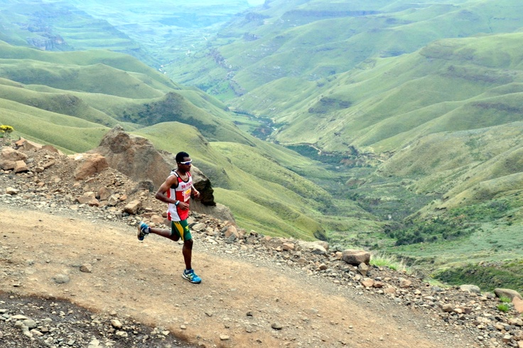 Prodigal Kumalo winner of the 2012 Sani Stagger going down past the last of the hairpins www.nudd.co.za