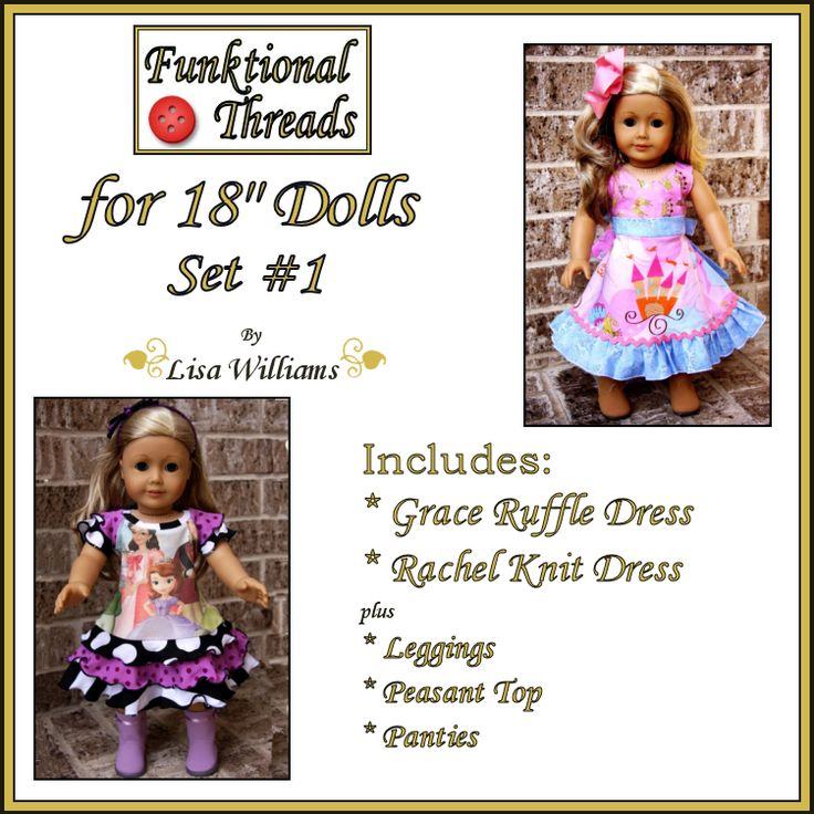 Looking for your next project? You're going to love Funktional Threads for Dolls set 1 by designer FTPatterns. - via @Craftsy