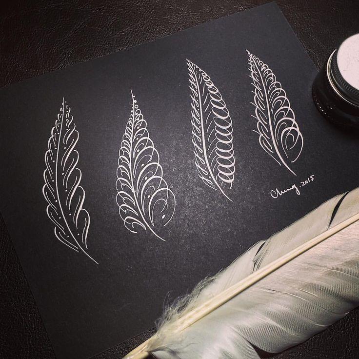 壓力大嗎?畫根羽毛舒壓一下! #illustration #design #draw #pen #nib #calligraphy #英文書法   Handwriting analysis, Calligraphy ...